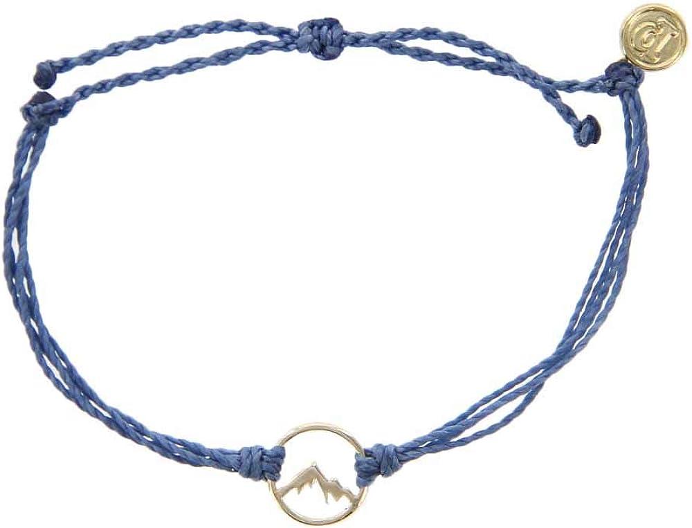 Pura Vida Gold Sierra Denim Bracelet - Gold-Plated Charm, Adjustable Band - 100% Waterproof