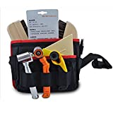 Rigid Canvas Tool Bag Heavy Duty Workshop Tool Pouches with Waist Belt Compact Portable Waterproof Small Utility Holder Bag Best for Men Women Handymen Carpenter Woodworking HSZ-15-B-US #10 Pockets