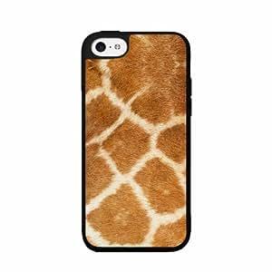 Giraffe Animal Print - Case Back Cover (iPhone 5c Black - Plastic)