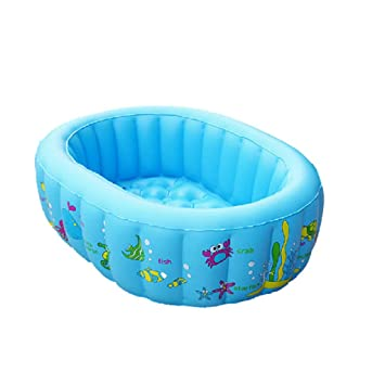 Amazon.com: Piscina hinchable plegable azul – Infantil ...