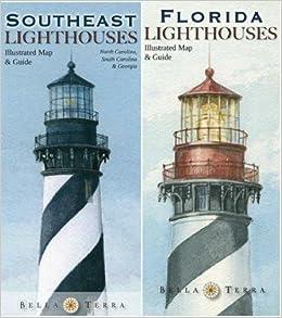 Map Of North Florida And South Georgia.Southeastern Lighthouses Map Pack North Carolina South Carolina