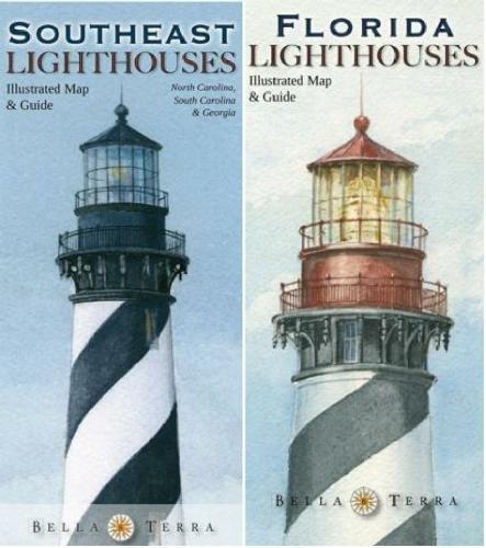 - Southeastern Lighthouses Map Pack - North Carolina, South Carolina, Georgia & Florida