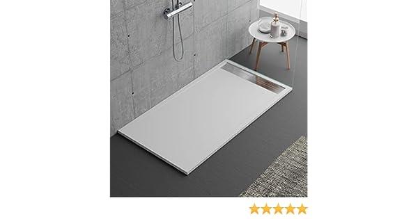 Plato de ducha blanco, diseño moderno, modelo Malaga, de mármol y ...
