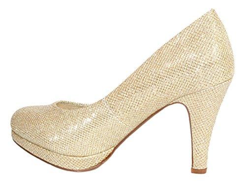 Elara - Plataforma Mujer Beige - champán