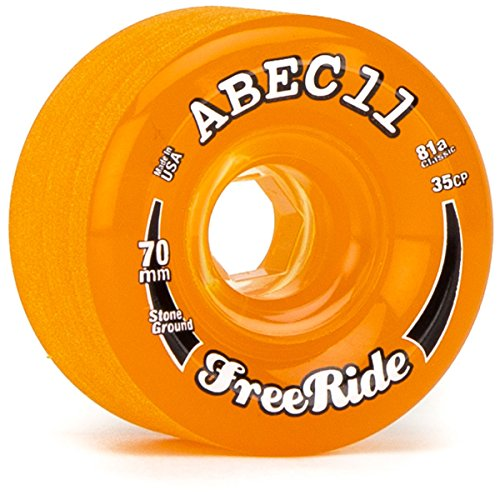 Abec11 Stone Ground Freeride Longboard Wheels - 70mm 81a - Amber
