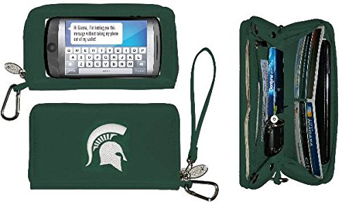 Charm14 NCAA Michigan State Spartans Deluxe Cell Phone Wallet-Fits All Phones