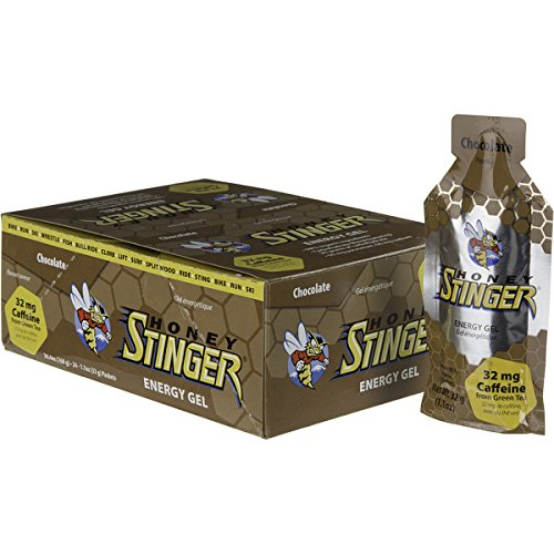 Honey Stinger Organic Energy Gels - 24-Pack Chocolate Naturally Caffeinated, One Size