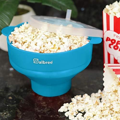 Original Salbree Microwave Popcorn Popper Silicone Popcorn Maker Collapsible Bowl BPA Free  15