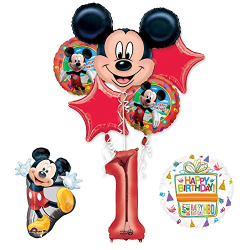 The Ultimate Mickey Mouse 1st Birthday Party Supplies and Balloon Decorations (Mickey Mouse Party Supplies 1st)
