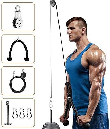 Elikliv Polea sistema de cable de fitness DIY carga pin elevación tríceps cuerda de entrenamiento de la máquina de entrenamiento longitud ajustable en ...