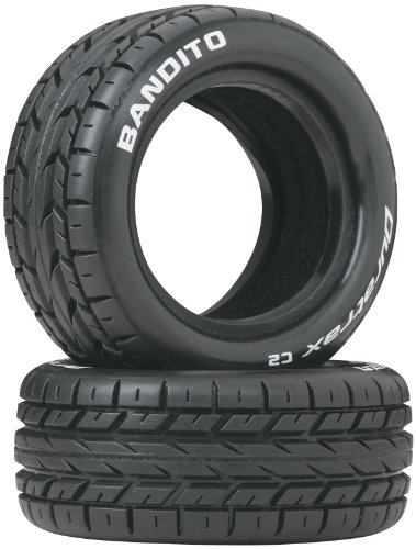 (Duratrax Bandito 1:10 Scale RC 4WD Buggy Front Tires with Foam Inserts, C2 Soft Compound, Unmounted (Set of 2))