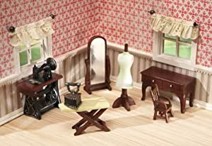 Collectible Mini Sewing Room Furniture - 7 Pc