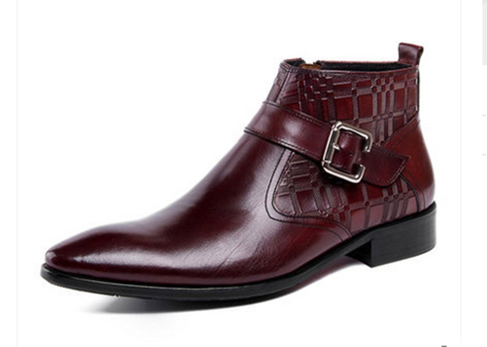 7b769ceb57abc SERDAOMANI 商標登録102874 メンズ レザー ビジネスシューズ 牛革 本革 モンクストラップ サイドジップ 革靴