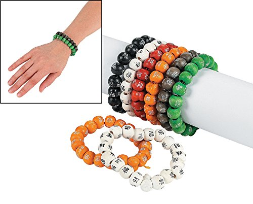 Fun Express Chinese Character Bead Bracelets (1 Dozen)
