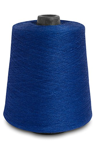 (Linen Yarn Cone - 100% Flax Linen - 1 LBS - Blue Color - 3 PLY - Sewing Weaving Crochet Embroidery - 3.000 Yard)