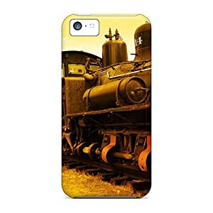 New Premium Flip Case Cover Vintage Train Skin Case For Iphone 5c
