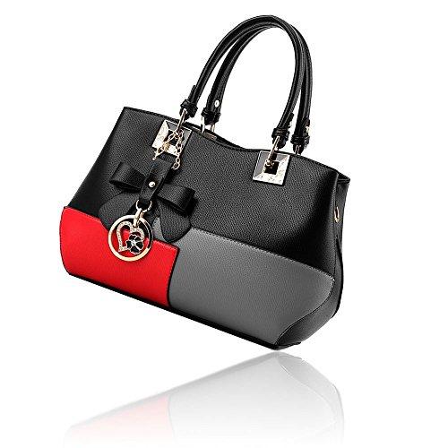 Rosso grigio grigio nero In rosso Colori L'arco Vari A Nero Borse Con Pu Pelle Borsa Crossbady Donna Tracolla 8Zaqwzn