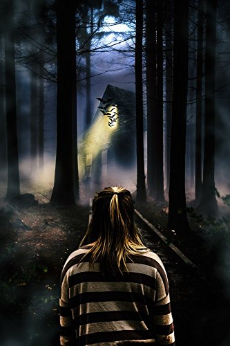 Acrylic Face Mounted Prints Walking Ghost Alone Trees Haunted House Girl Print 20 x 16. Worry Free Wall Installation - Shadow Mount is -