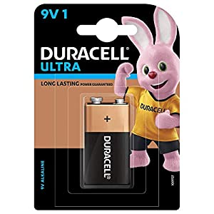 Duracell Ultra Alkaline 9V Battery, 1 Piece