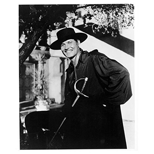 Guy Williams as Zorro Under Tree with Big Smile Holding Sword 8 x 10 inch photo