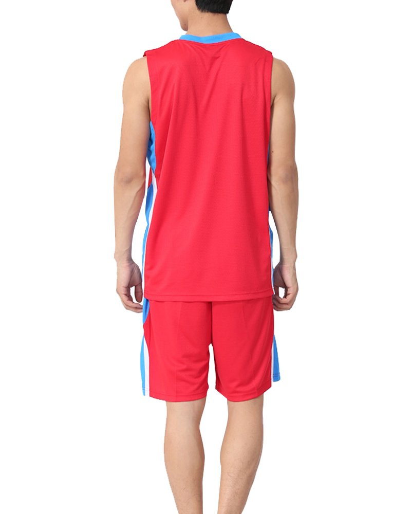 Mens Athletic Sport Wear Basketball Uniform Jersey and Shorts Trainning Tank Top Set #2652