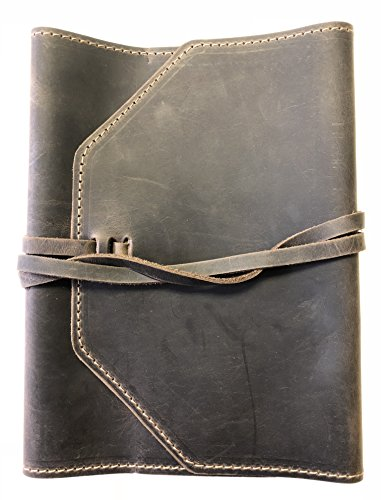 Leather Bible Cover - Adjustable with Wrap (XXL, Espresso)