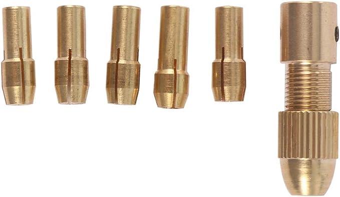 Konesky 8 PCs mini-perceuse Set 0.5-3mm Quick Chuck perceuse mandrins ensemble pour mini-outils Mandrin de serrage