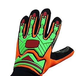 Sportmars Resistant Reducing Anti-Impact Mechanics Heavy Duty Safety Gloves Cut 5 Gloves wih Niterle foam coating CE (Large)