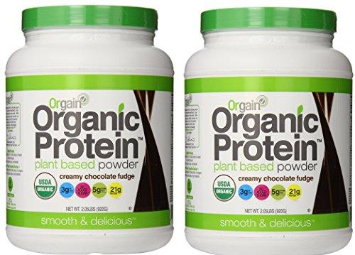 Orgain Organic Protein Plant-based Powder 2.03 Pound Chocolate Fudge (2 Pack))