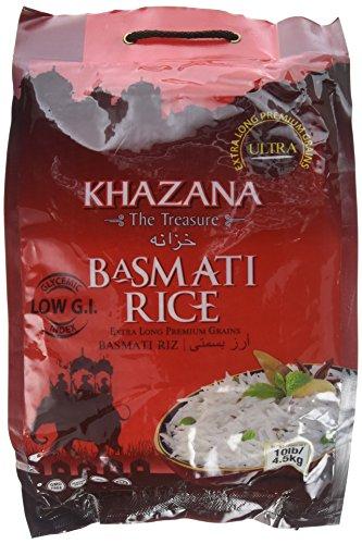 Khazana Ultra Long Grain Basmati Rice, 10 Pound by Khazana