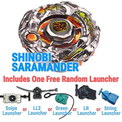 Beyblade BBG-02 SHINOBI SARAMANDER NINJA SALAMANDER SW145SD Shogun Steel with Free Bonus Random Launcher Shipped and Sold from the US