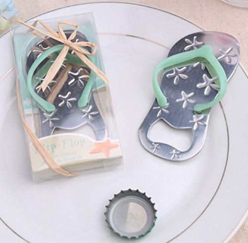Hunputa Kitchen Dining Bar Tool,Bottle Opener Starfish Flip-flop Shape Alloy Tool Wedding Party Gift Souvenirs (Flip Favors Wedding Flops)