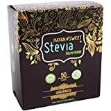Green Powder 100% Organic Stevia Box of 50 Sachets Sachets (300 mg ea)
