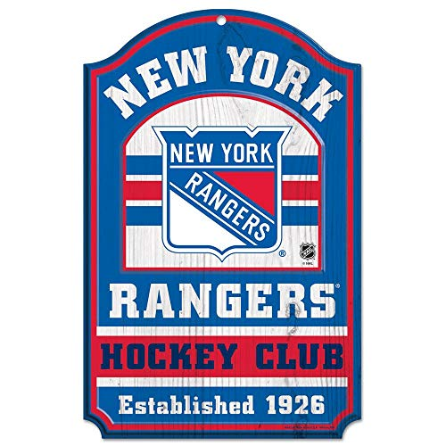 WinCraft NHL New York Rangers 20562014 Wood Sign, 11