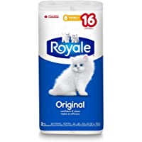 Royale Original Bathroom Tissue - Soft Toilet Paper - Double Rolls - 8 Count - Septic Safe - Hypoallergenic