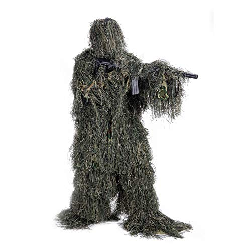 Best Ghillie Suit Youths - Pinty Ghillie Suit 3D 4-Piece with