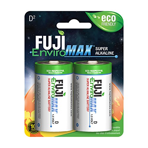 Fuji EnviroMAX Super Alkaline D Cell Eco Friendly Batteries (Pack of 96) by Fuji EnviroMAX