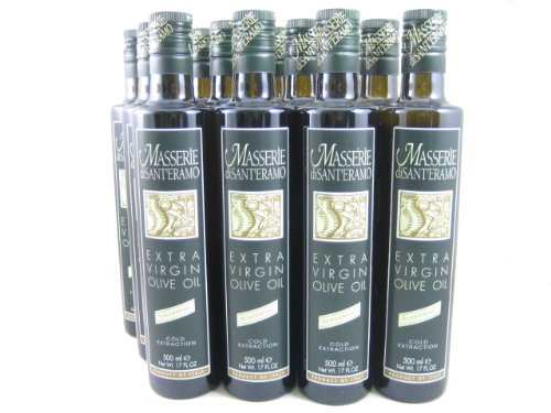 Oil Olive Case (Masserie di Sant'Eramo Flavorful Extra Virgin Olive Oil (Italy) (Case of 12 - 17 Ounce Bottles))