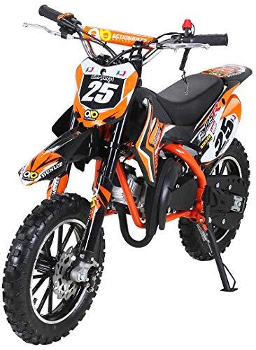 Actionbikes Motors Mini Kinder Crossbike Gepard 49 cc – Scheibenbremsen – Sportluftfilter – Sportauspuff – Luftbereifung…