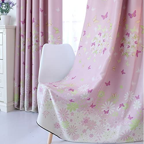 FADFAY Home Textile,Romantic Butterfly Curtains For The Bedroom,Sweet  Cherry Blossom Window Blinds