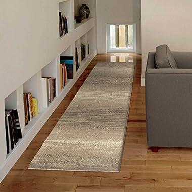 Orian Rugs Plush Stripes Weld Beige Runner Rug (2'3  x 8')