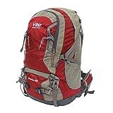 Cheap Vihir 40L Travel Hiking Backpack Waterproof with Rain Cover for Men Women, Red