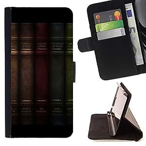 Momo Phone Case / Flip Funda de Cuero Case Cover - Librero Decoración Filosofía Cita - Sony Xperia M2