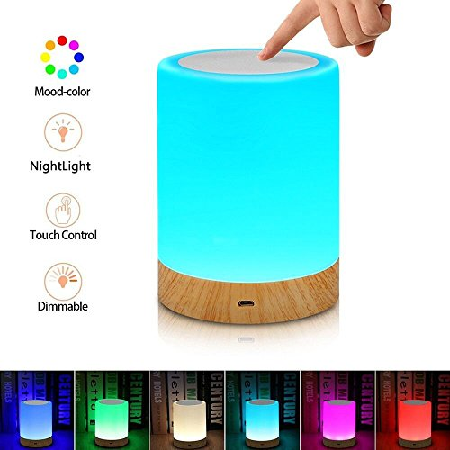 Aisuo Touch Control Bedside Lamp, Night Light with Dimmable Function, Rechargeable Lithium Battery, 2800K - 3100K Warm White Light & Adjustable Brightness, The Best Gift for Kids and Children. by Aisuo