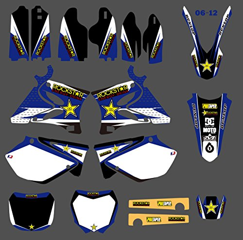 DST0128 Customized 3M Sticker Motorcross Graphic Motorcycle Decals Stickers Kit Graphics for Yamaha YZ125 YZ250 YZ 125 250 2002-2012 -