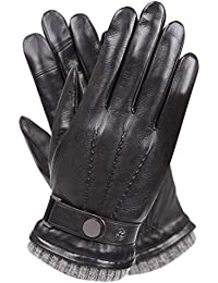 Men's Texting Touchscreen Winter Warm Nappa Leather Daily...