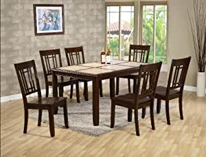 tile top kitchen table and chairs 7pc tile top dining table and chairs set 9470