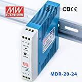 Meanwell MDR-20-24 Power Supply - 20W 24V 1.00A - Miniature