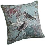 Brentwood 18-Inch Bird Tapestry Pillow, Blue Bird