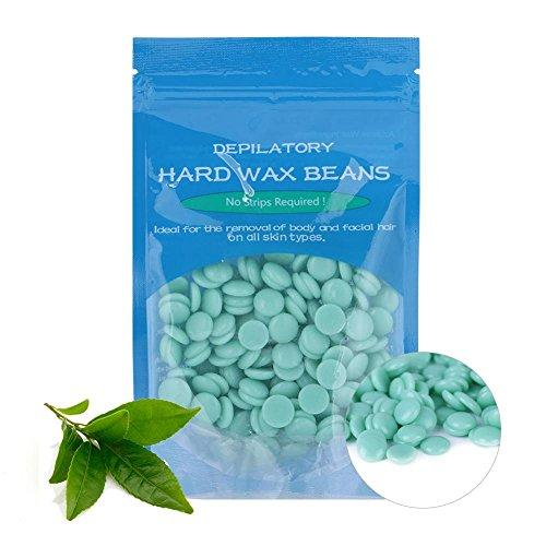 Wax Bean, salón de belleza de eliminación de vello Depilatorio dedicado cera dura herramientas de pelo de frijol con 10...